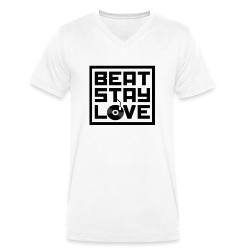 Beat.Stay.Love - Männer Bio-T-Shirt mit V-Ausschnitt von Stanley & Stella