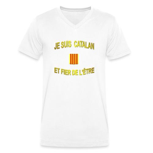 Dessous de verre à l'emblème du PAYS CATALAN - T-shirt bio col V Stanley & Stella Homme