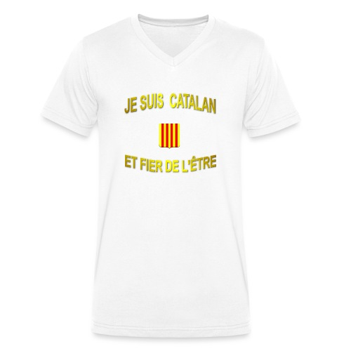 Tee-Shirt supporter du pays CATALAN - T-shirt bio col V Stanley & Stella Homme