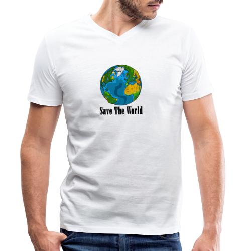 Save The World-Planet - Ekologisk T-shirt med V-ringning herr från Stanley & Stella