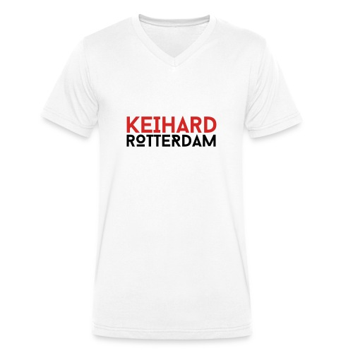 Keihard Rotterdam - Mannen bio T-shirt met V-hals van Stanley & Stella