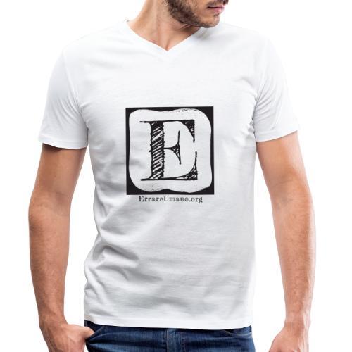 Logo ErrareUmano (scritta nera) - T-shirt ecologica da uomo con scollo a V di Stanley & Stella