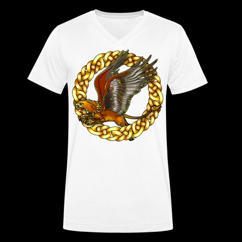 Golden Gryphon - Men's Organic V-Neck T-Shirt by Stanley & Stella