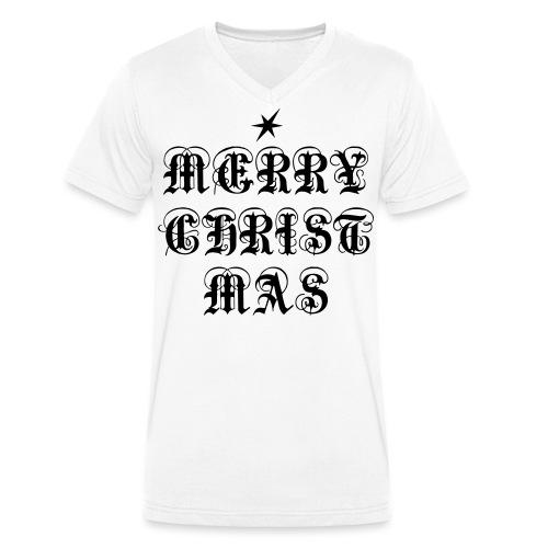 Merry Christmas X-mas - Männer Bio-T-Shirt mit V-Ausschnitt von Stanley & Stella