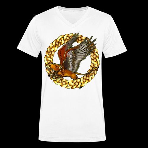 Golden Gryphon - Men's Organic V-Neck T-Shirt by Stanley & Stella