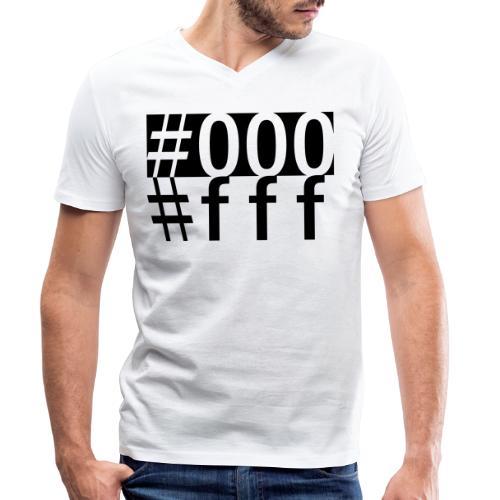 #000 & #fff - Männer Bio-T-Shirt mit V-Ausschnitt von Stanley & Stella