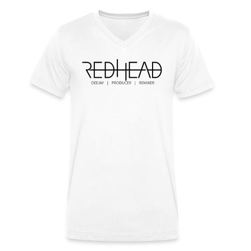 Redhead-Standard [BLACK] - Männer Bio-T-Shirt mit V-Ausschnitt von Stanley & Stella