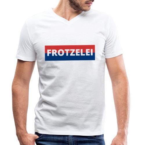 FROTZELEI - Polizeikontrolle Geschenk Autofahrer - Männer Bio-T-Shirt mit V-Ausschnitt von Stanley & Stella