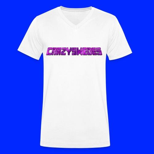 CrazySwedes PurpleThunder - Ekologisk T-shirt med V-ringning herr från Stanley & Stella