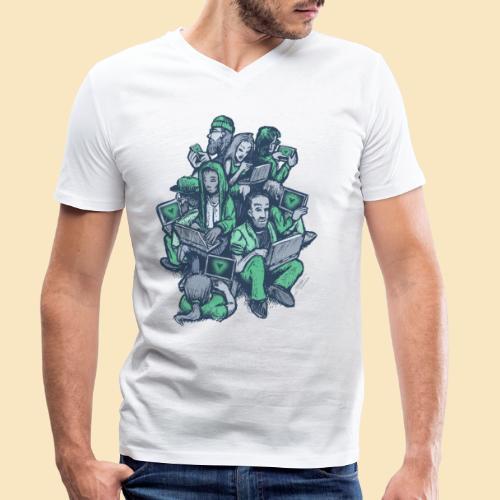 VUE - Männer Bio-T-Shirt mit V-Ausschnitt von Stanley & Stella