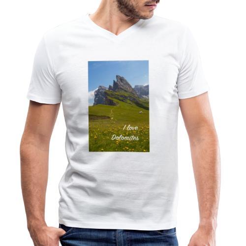 Seceda und Geisler Spitzen - Männer Bio-T-Shirt mit V-Ausschnitt von Stanley & Stella