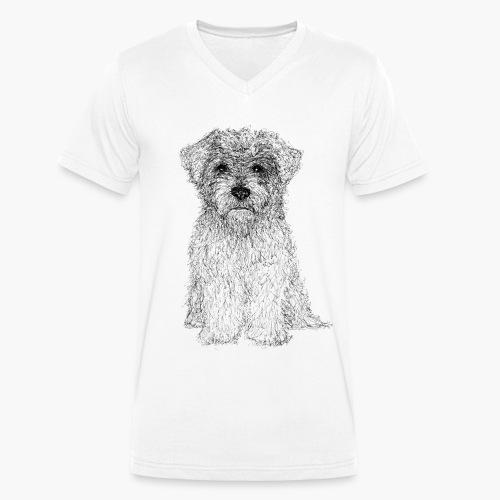 Glen of Imaal - Scribble - Männer Bio-T-Shirt mit V-Ausschnitt von Stanley & Stella
