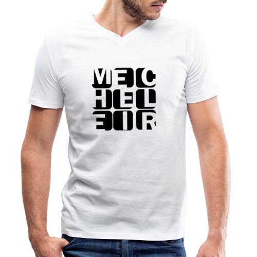 Mecheleir Cubes - Mannen bio T-shirt met V-hals van Stanley & Stella