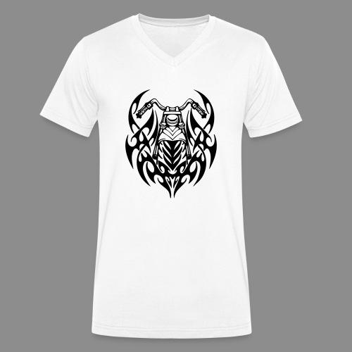 Moto Tribal - Camiseta ecológica hombre con cuello de pico de Stanley & Stella