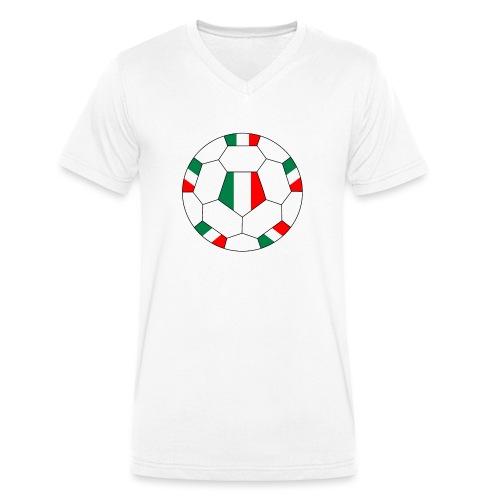 Italien Fußball - Männer Bio-T-Shirt mit V-Ausschnitt von Stanley & Stella