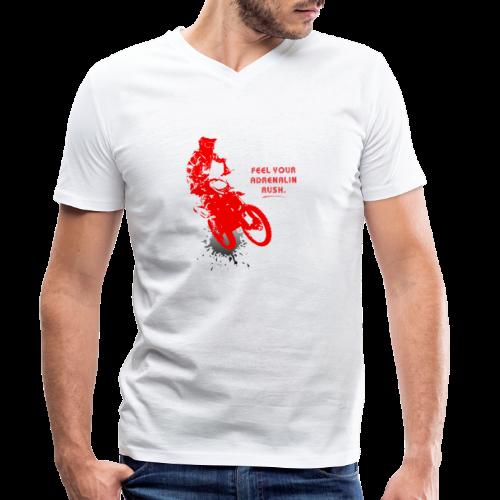 Adrenalinrausch | Motocross Geschenk Geschenkidee - Männer Bio-T-Shirt mit V-Ausschnitt von Stanley & Stella