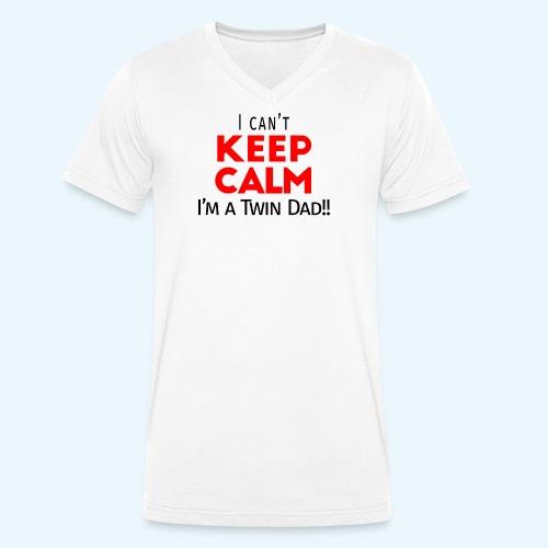I Can't Keep Calm (Dad's Only!) - Mannen bio T-shirt met V-hals van Stanley & Stella