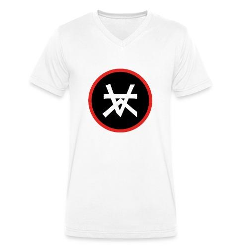 Kairos Logo Red&Round - Mannen bio T-shirt met V-hals van Stanley & Stella