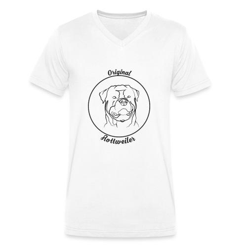 Rottweiler Original - Männer Bio-T-Shirt mit V-Ausschnitt von Stanley & Stella