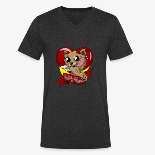 Engla Be my valentine? - Ekologisk T-shirt med V-ringning herr från Stanley & Stella