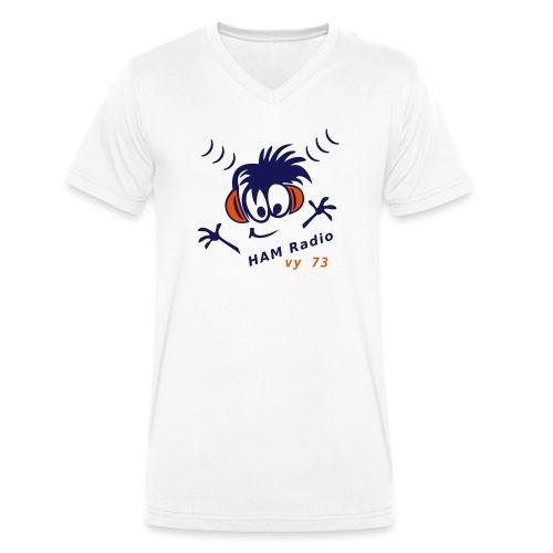 Funker, Amateurfunker, Comic - Männer Bio-T-Shirt mit V-Ausschnitt von Stanley & Stella