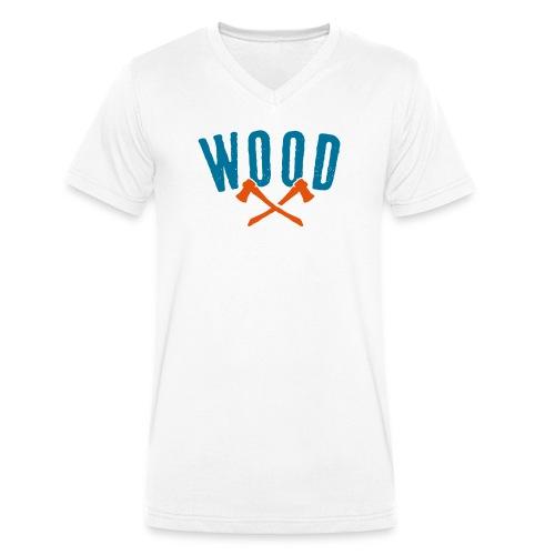 Wood - Männer Bio-T-Shirt mit V-Ausschnitt von Stanley & Stella