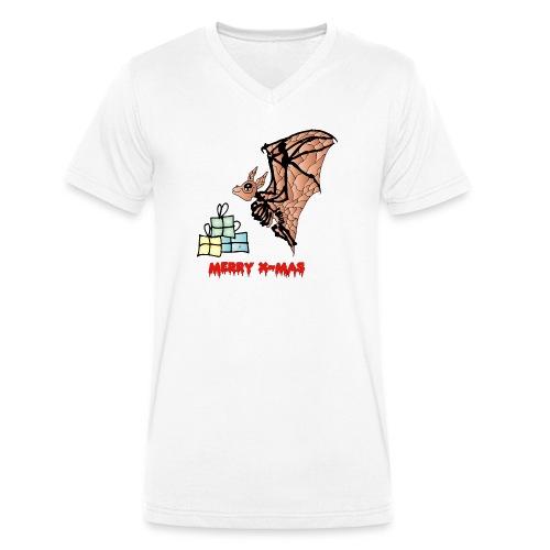 Merry X-MAS - Männer Bio-T-Shirt mit V-Ausschnitt von Stanley & Stella