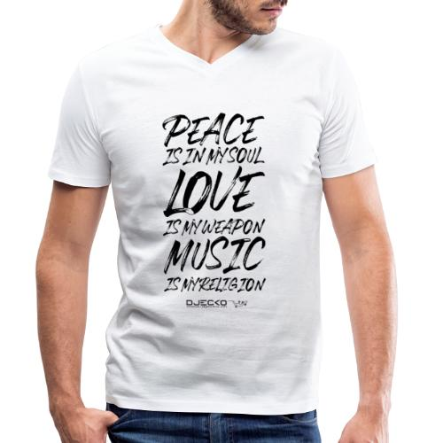 Djecko blk - T-shirt bio col V Stanley & Stella Homme