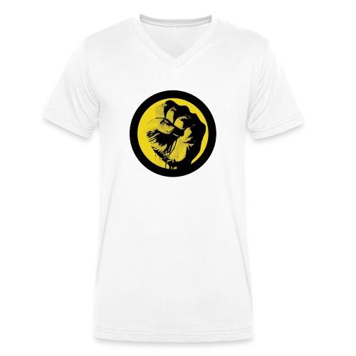 pugno - T-shirt ecologica da uomo con scollo a V di Stanley & Stella