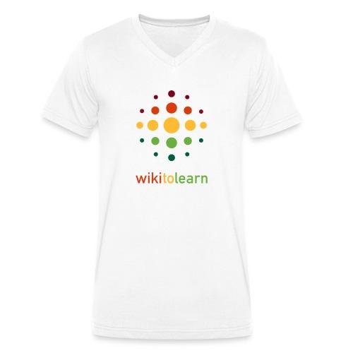 wikitolearn-logo - T-shirt ecologica da uomo con scollo a V di Stanley & Stella