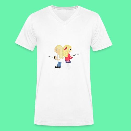 Gaming - Ekologisk T-shirt med V-ringning herr från Stanley & Stella