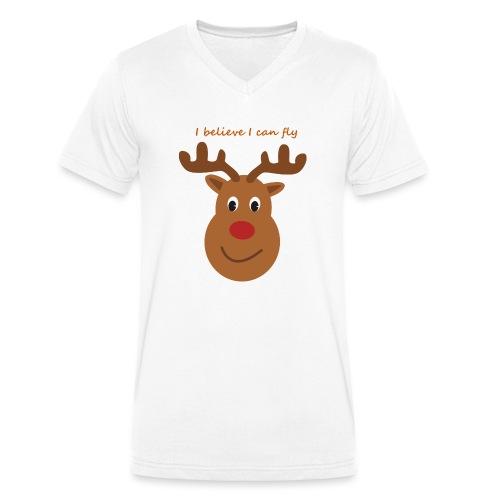 Isles of Rudolph - Men's Organic V-Neck T-Shirt by Stanley & Stella