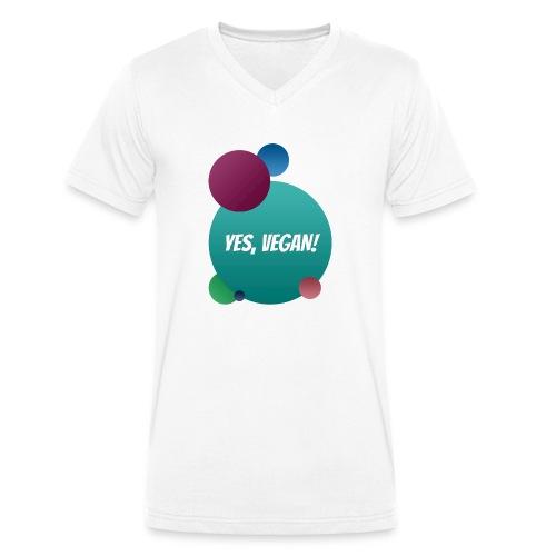 Yes, vegan! - Männer Bio-T-Shirt mit V-Ausschnitt von Stanley & Stella