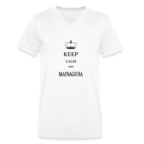 keep calm mainagioia-01 - T-shirt ecologica da uomo con scollo a V di Stanley & Stella
