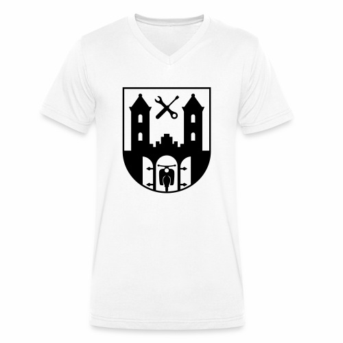 Simson Schwalbe - Suhl Coat of Arms (1c) - Men's Organic V-Neck T-Shirt by Stanley & Stella