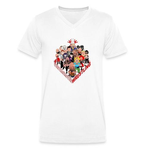 comics-wrestler - Männer Bio-T-Shirt mit V-Ausschnitt von Stanley & Stella