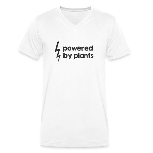 Powered by plants - Männer Bio-T-Shirt mit V-Ausschnitt von Stanley & Stella