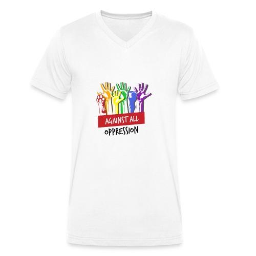 Against All Oppression - Mannen bio T-shirt met V-hals van Stanley & Stella