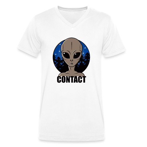 Contact Extraterrestre - T-shirt bio col V Stanley & Stella Homme