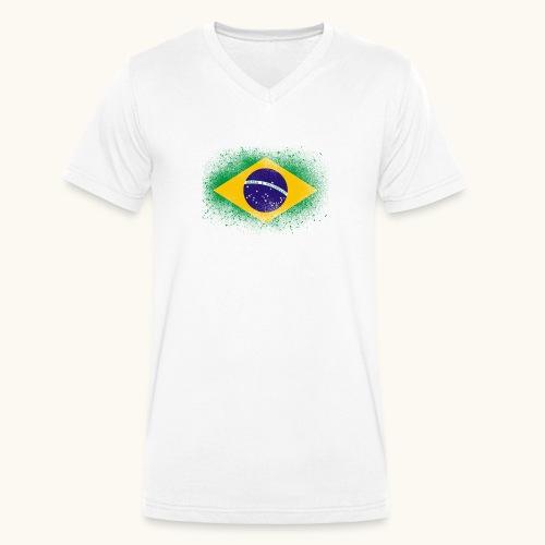 Drapeau brésilien cadeau du Brésil - T-shirt bio col V Stanley & Stella Homme