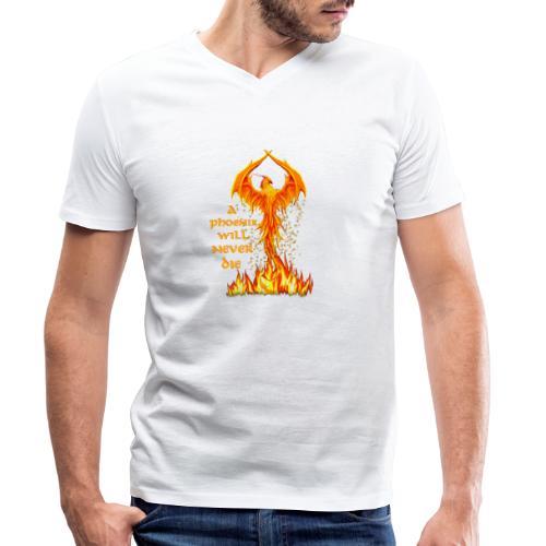Phönix - Männer Bio-T-Shirt mit V-Ausschnitt von Stanley & Stella