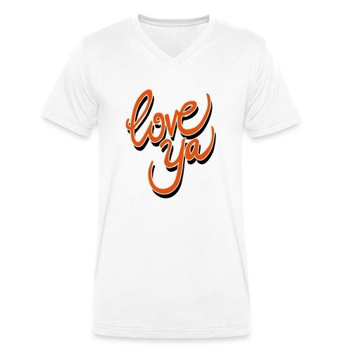 love ya - Mannen bio T-shirt met V-hals van Stanley & Stella