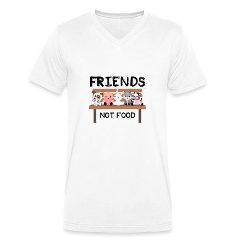 Friends Not Food - Männer Bio-T-Shirt mit V-Ausschnitt von Stanley & Stella