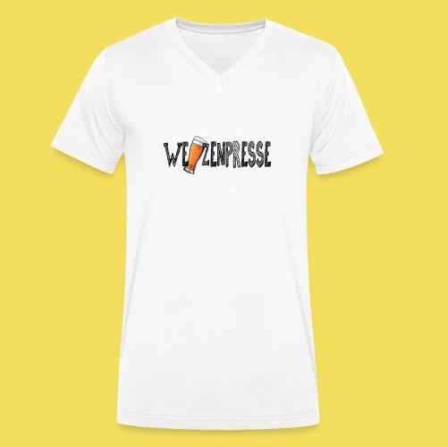 Weizenpresse - Männer Bio-T-Shirt mit V-Ausschnitt von Stanley & Stella