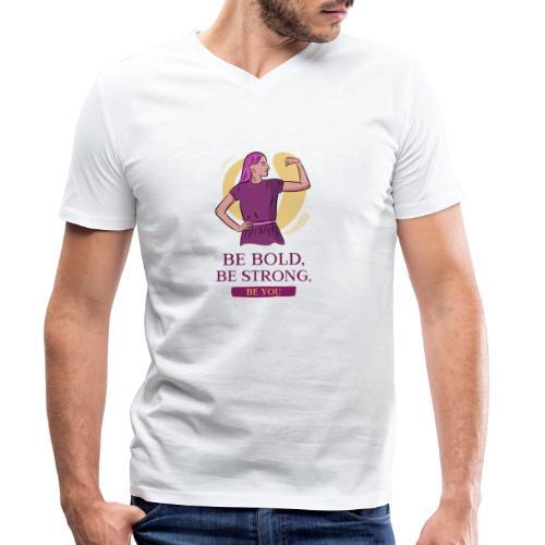 t shirt design generator featuring an empowered - Camiseta ecológica hombre con cuello de pico de Stanley & Stella