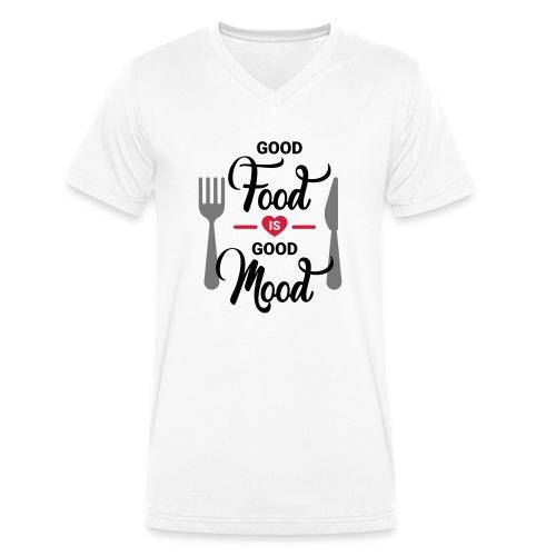 Good Food is Good Mood - Männer Bio-T-Shirt mit V-Ausschnitt von Stanley & Stella