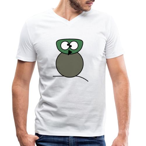 Owl crazy - c - Men's Organic V-Neck T-Shirt by Stanley & Stella