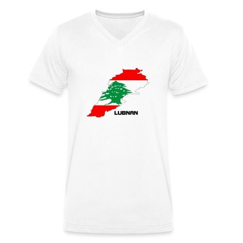 libanon landkarte - Männer Bio-T-Shirt mit V-Ausschnitt von Stanley & Stella