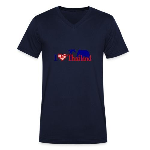 I love Thailand - Men's Organic V-Neck T-Shirt by Stanley & Stella