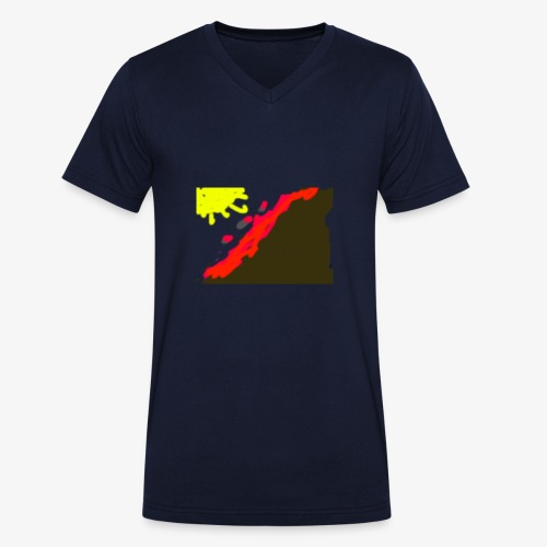 flowers - Økologisk Stanley & Stella T-shirt med V-udskæring til herrer